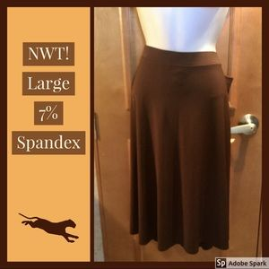 NWT! SeXY 💋 Spandex 💋 Shirt Sleek Brown George L